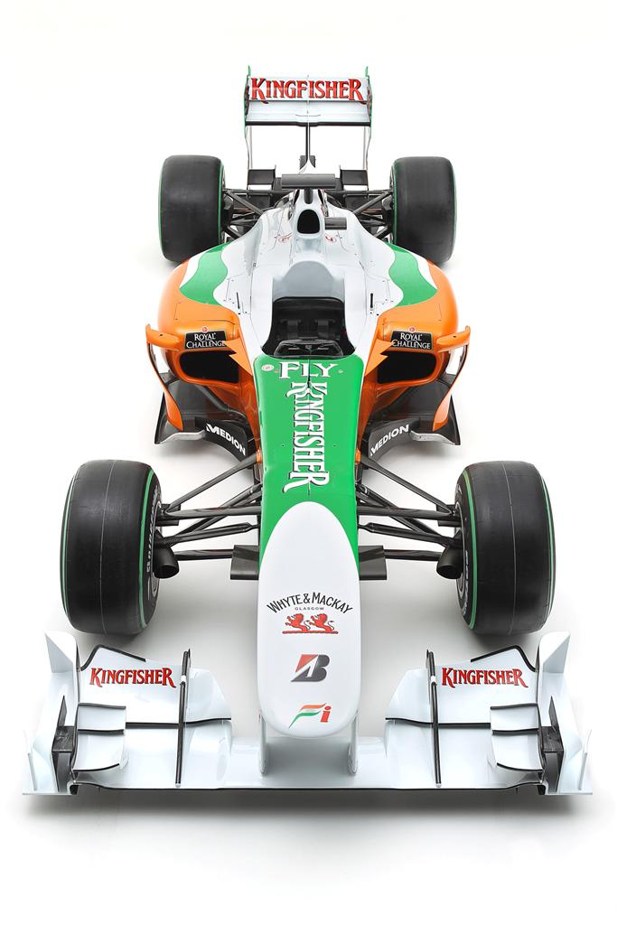 The Force India VJM03.  Force India VJM03 Launch Studio Shoot, Silverstone, England, 5 February 2010.