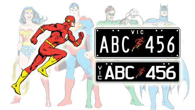 Vic: DC Superheroes, Looney Tunes Coming To Number Plates