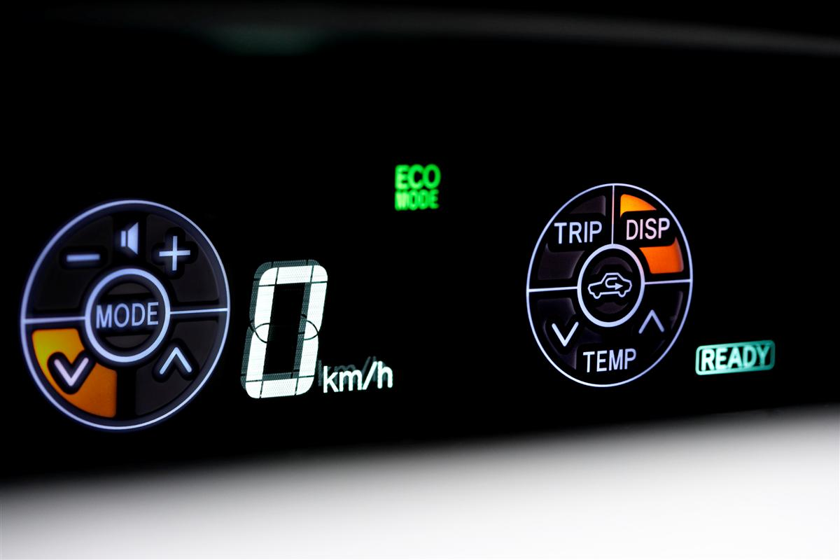 2009 Toyota Prius Touch Tracer display