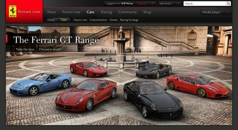 Ferrari Lanches New Ferrari.com Site Over F1 GP Weekend