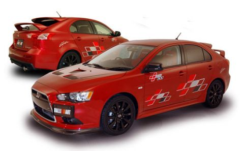 Ralliart Releases Wing Package For 2009 Lancer Ralliart Sportback: Triple The Wing!