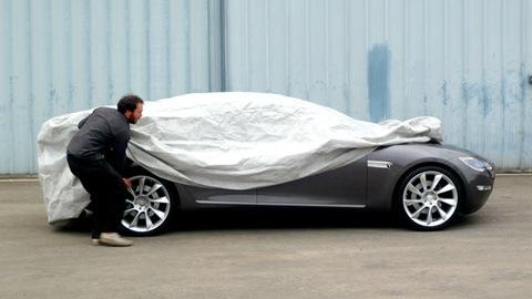Tesla Model S Partially Revealed