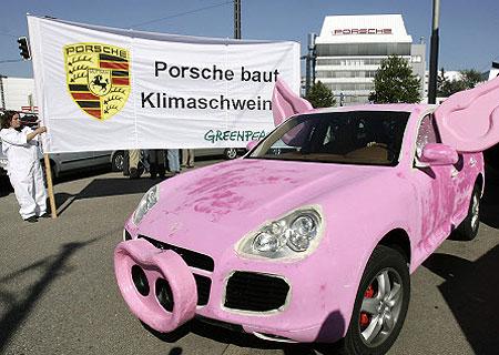 Greenpeace point their hoof at Porsche