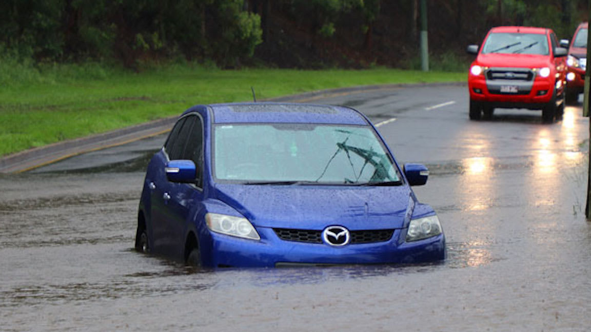 Drivers warned: Don't drive through floodwaters