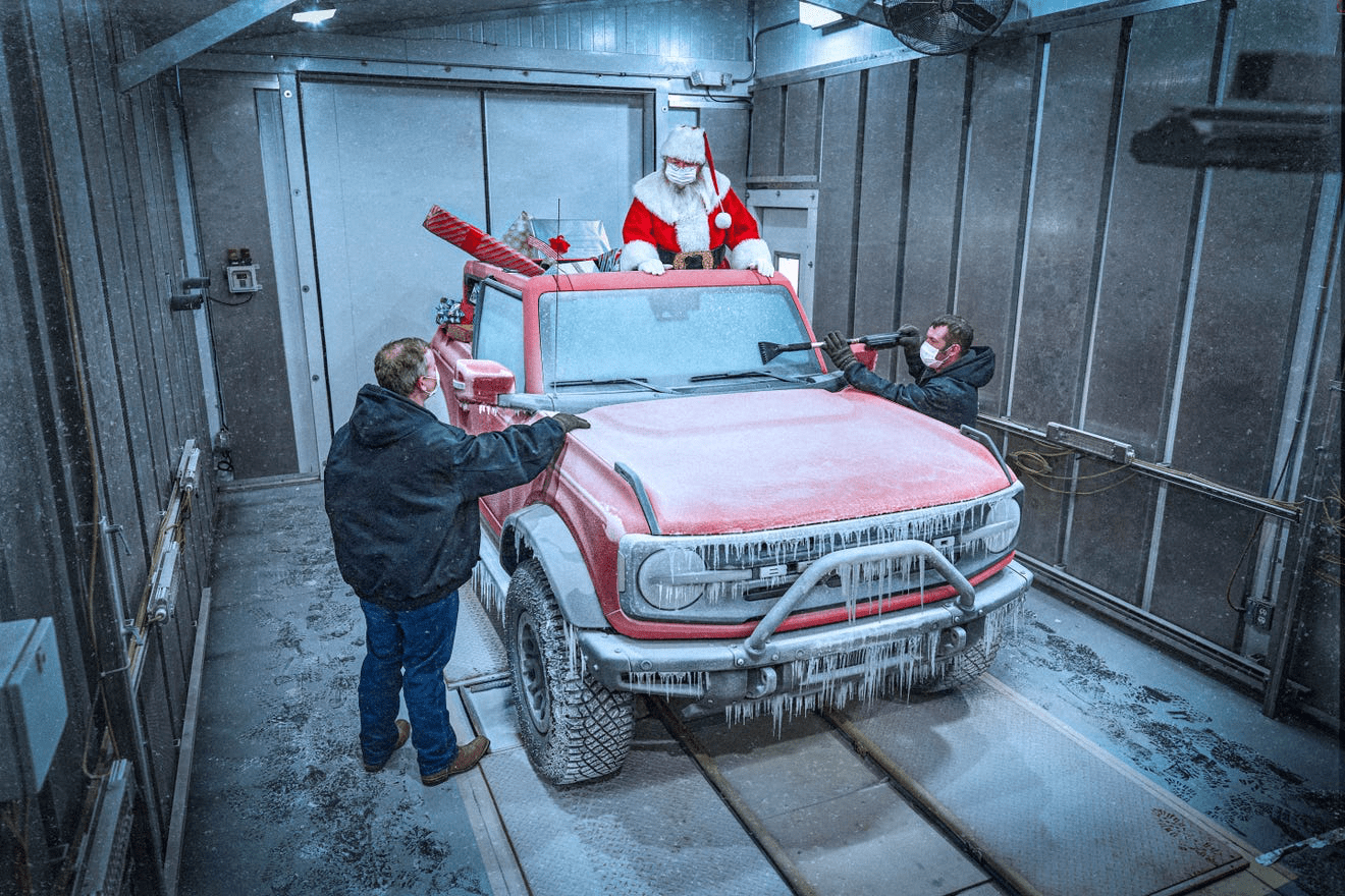 Santa Test Drives the New Ford Bronco?