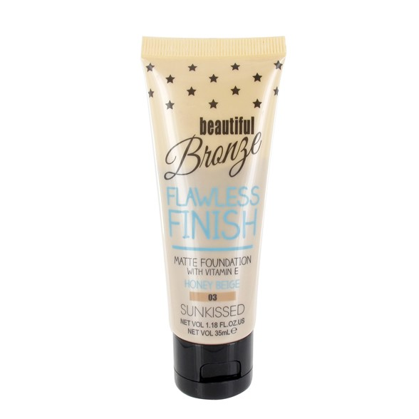 Beautiful Bronze Flawless Finish Matte Foundation Honey Beige