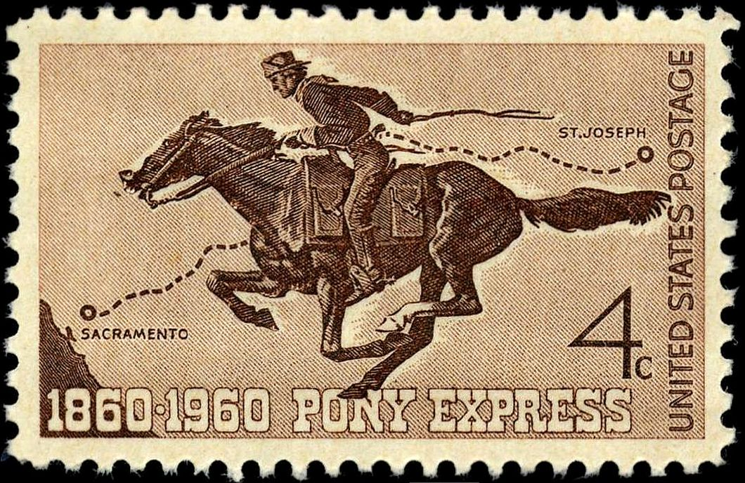 1960 Centennial Pony Express Stamp