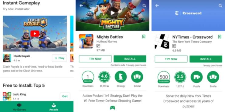 Daftar Game Di Play Store Yang Bisa Kalian Mainkan Tanpa Harus Install Gamenya