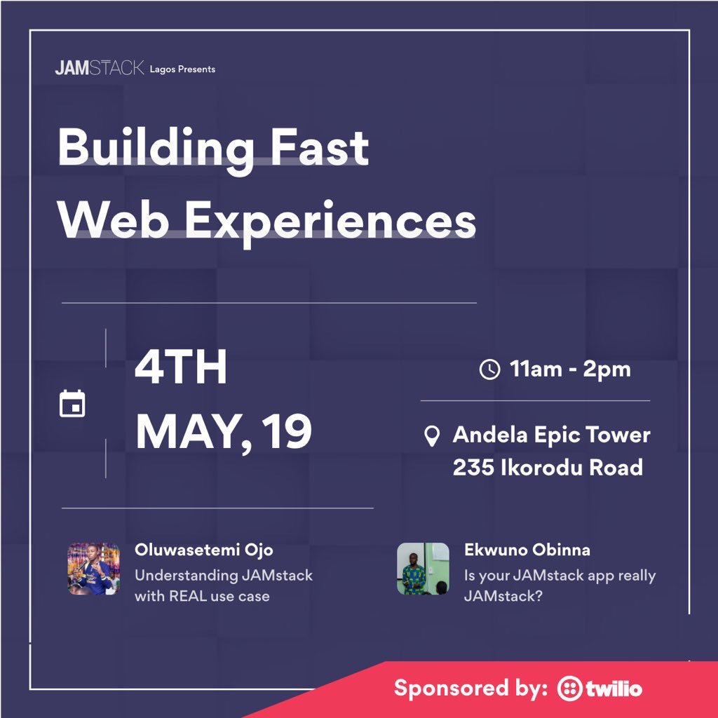 Speaking at JAMstack Lagos