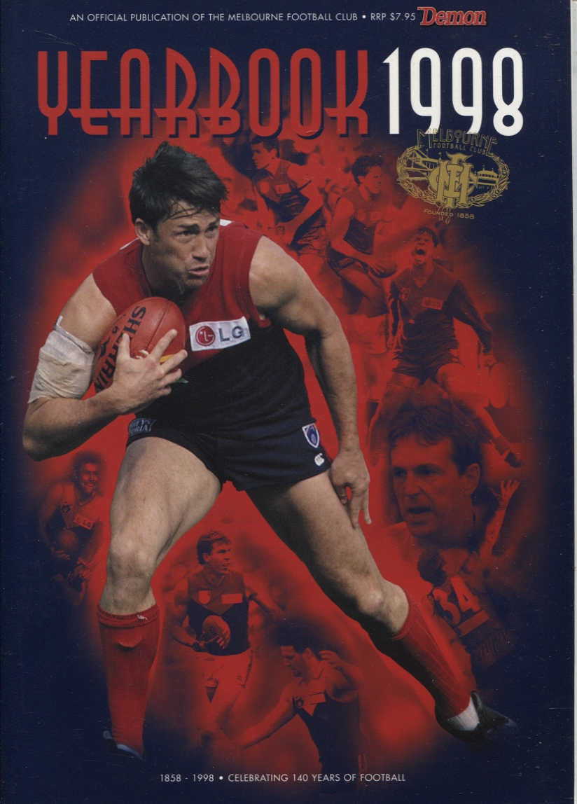 Image for MELBOURNE YEARBOOK 1998 1858 - 1998 Celebrating 120years of Football