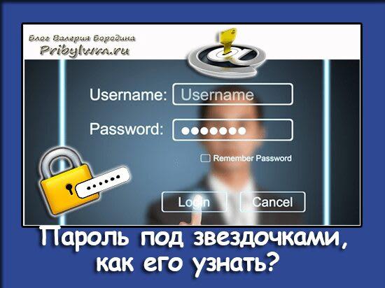 пароль под звездочками