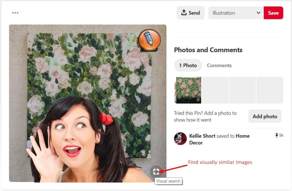 iskat po foto na pinterest visual search