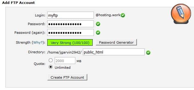 учетная запись FTP