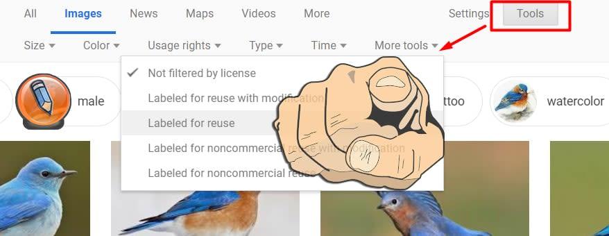 google images tools