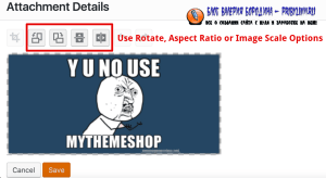 How To Edit Image In Library rotate aspect ratio scale