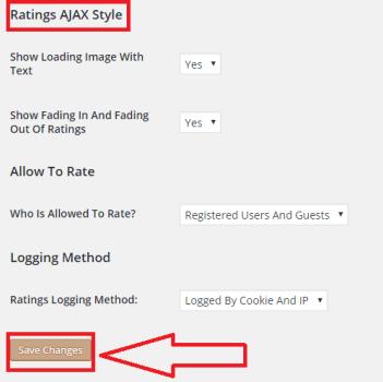 Ratings AJAX Style