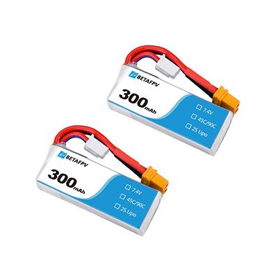 300mAh 2S 45C Lipo Battery 2buc