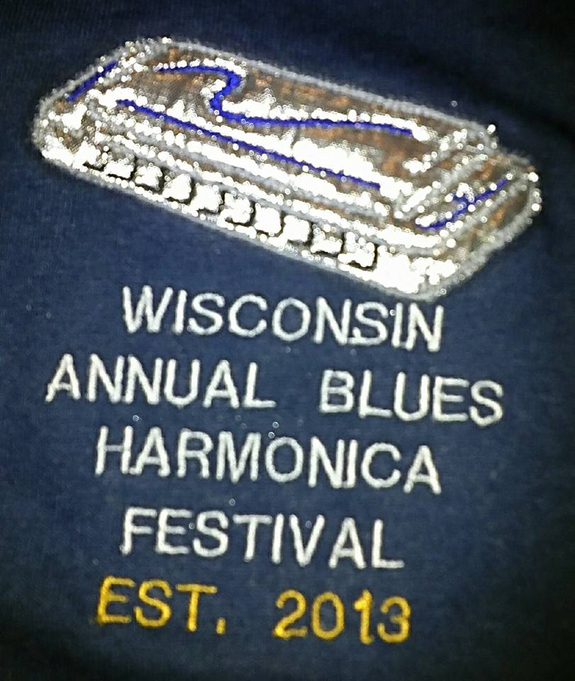 Wisconsin Annual Blues Harmonica Festival Custom Embroidered
