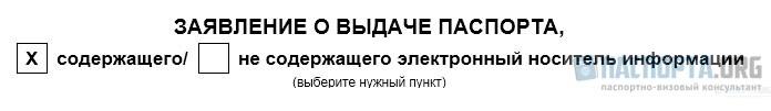 Анкета-заявление на загранпаспорт
