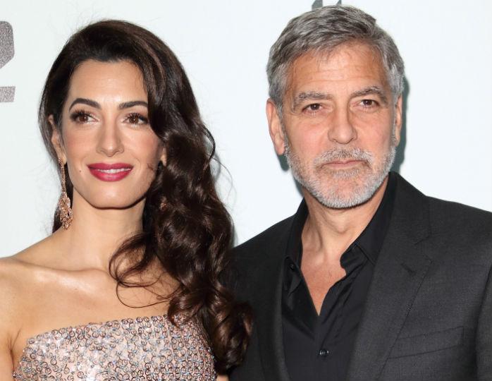 «Счастливые»: Амаль Клуни в топе-бюсте и кожаных брюках засняли с мужем