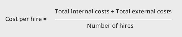 Cost per hire formula