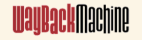 Wayback Machine Logo from the Internet Archive.