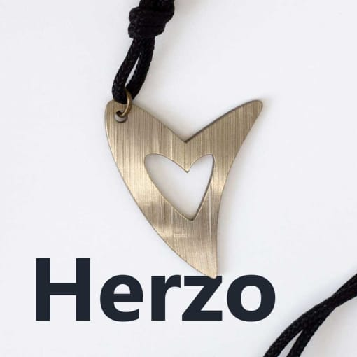 Herzo love pendant from our Drum Jewelry collection