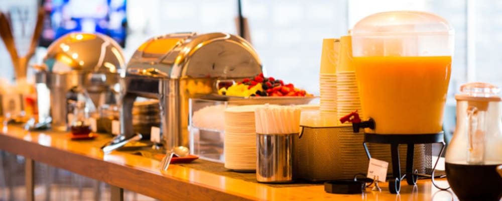Daily catered breakfast & lunch