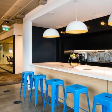 Cafés located on all floors