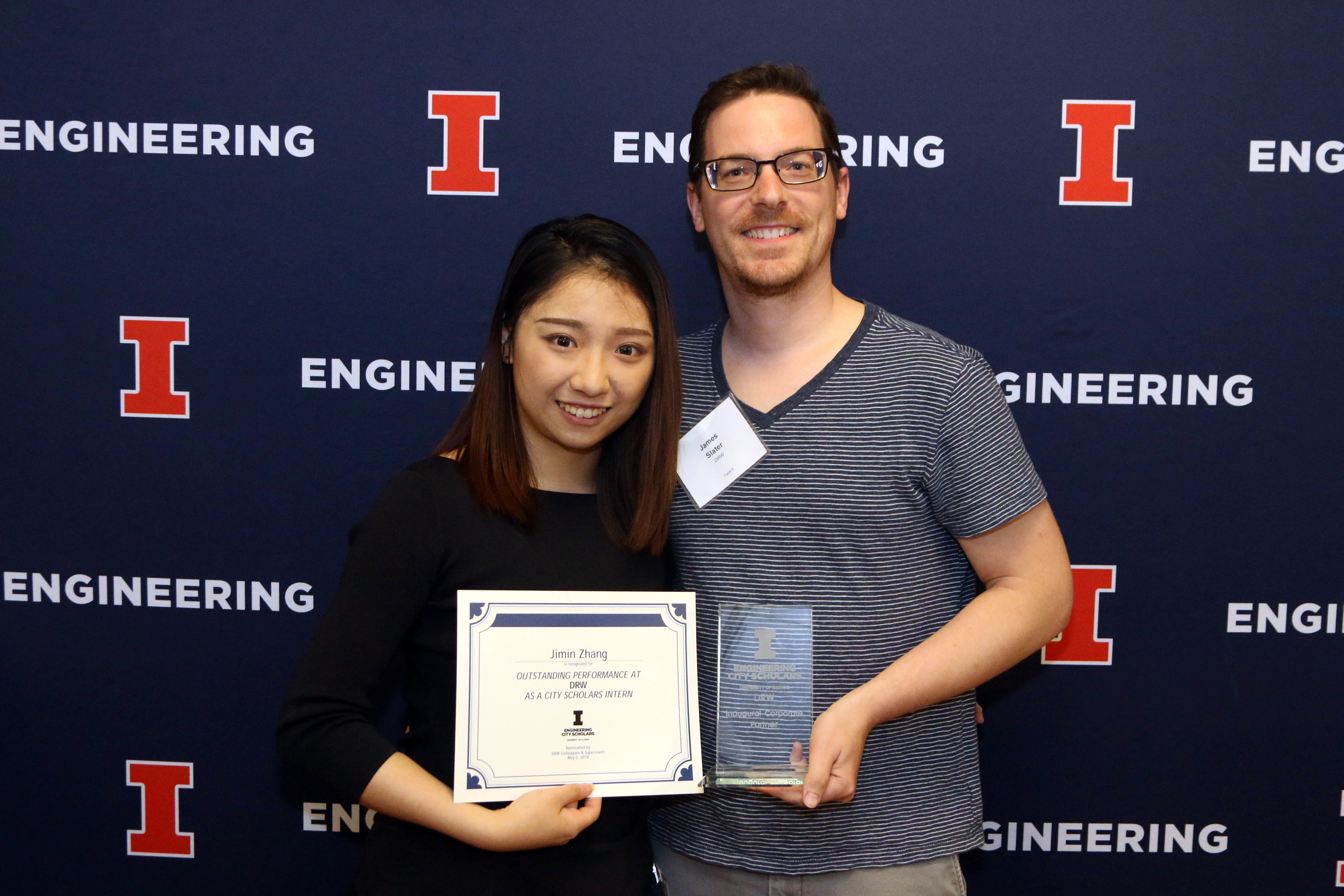 Jimin was awarded Outstanding Performance in the City Scholars class of 2018.
