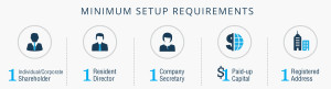 Minimum Setup Requirements for a Private Limited Company (click for larger view)