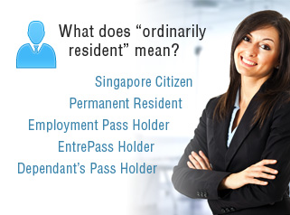 ordinarily resident in Singapore