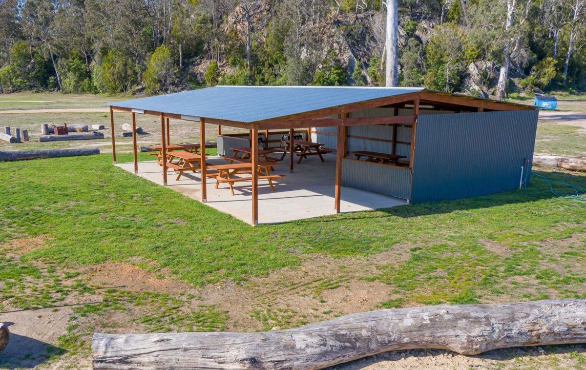 Outdoor camp kitchen