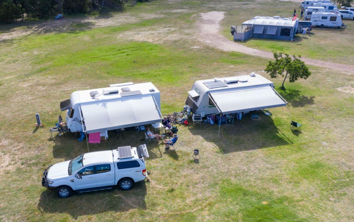 Overhead Image of campsites