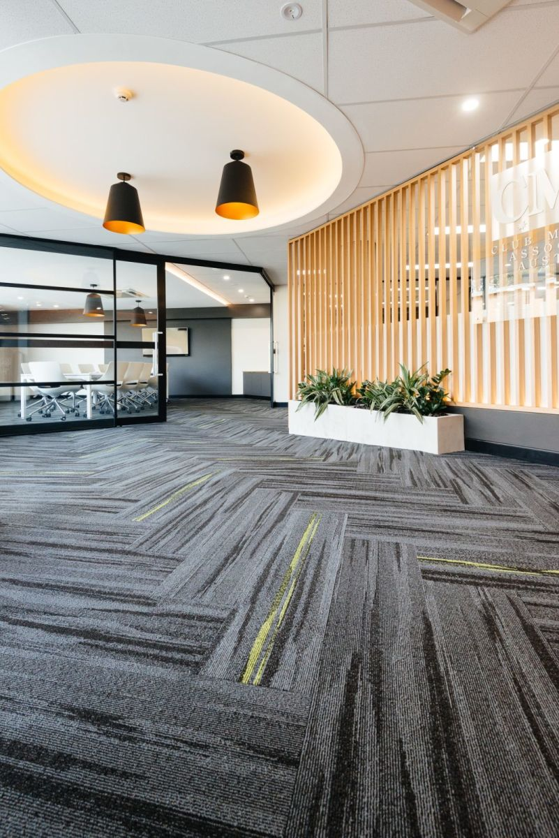 Austral Lights - Charcoal and Yellow in Office Space Hurtsville New South Wales, Open Space Alternative.