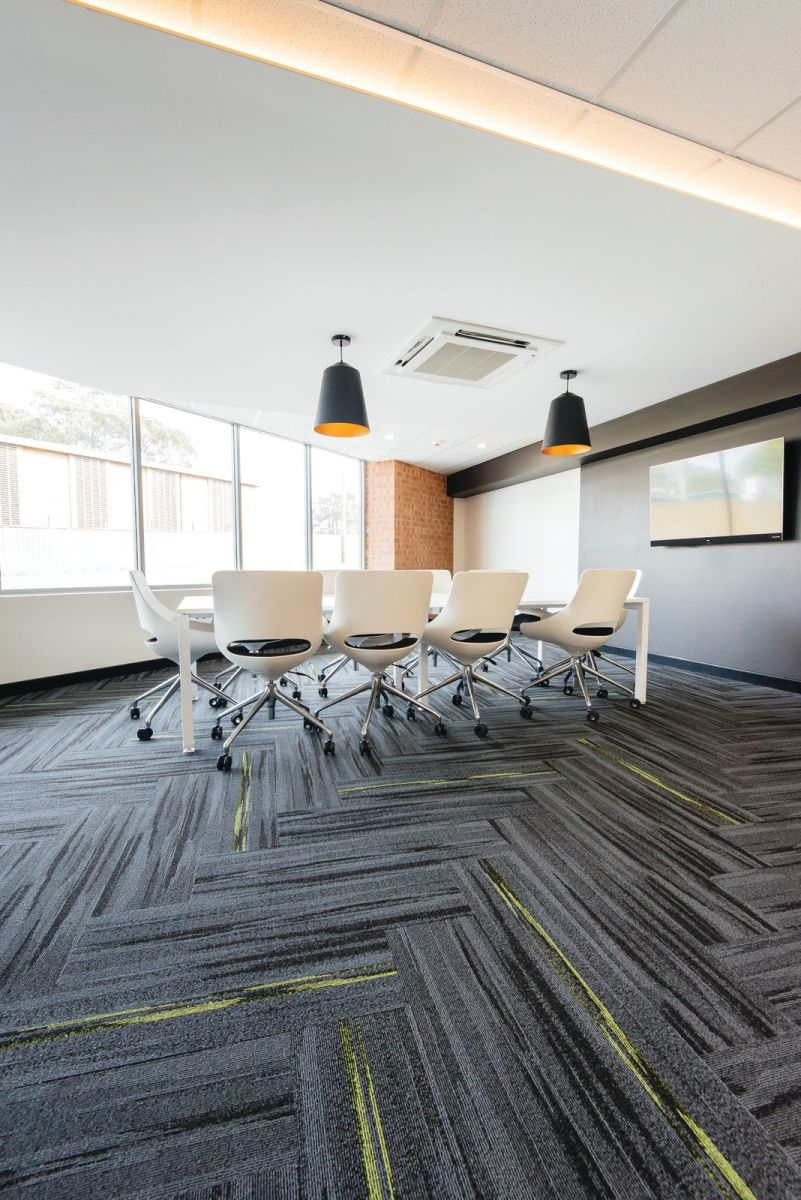 Austral Lights - Charcoal and Yellow in Office Space Hurtsville New South Wales, Meeting Room Alternative.