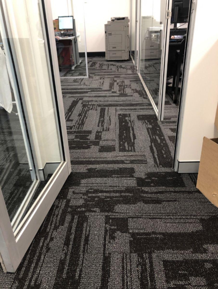 Urban Jet carpet in an office space, Perth Western Australia, Doorway view