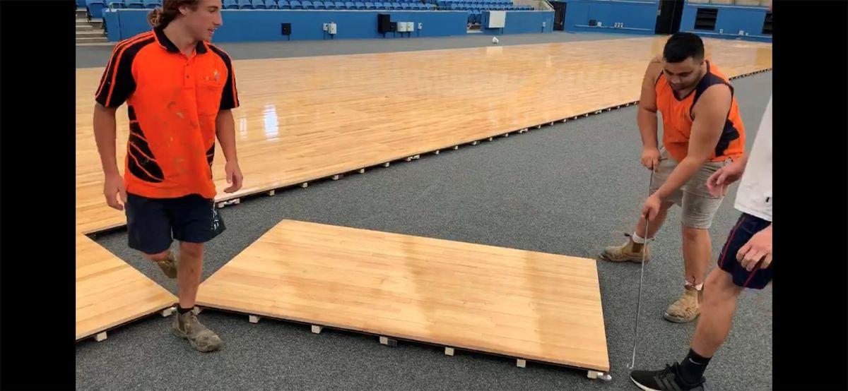 Sydney Olympic Park Tennis Centre - Portable Floor - Sporting Facility