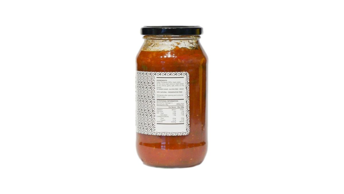 Chef Luca Ciano - Fresh Rocket, Chilli and Celery Sugo - Pasta Sauce