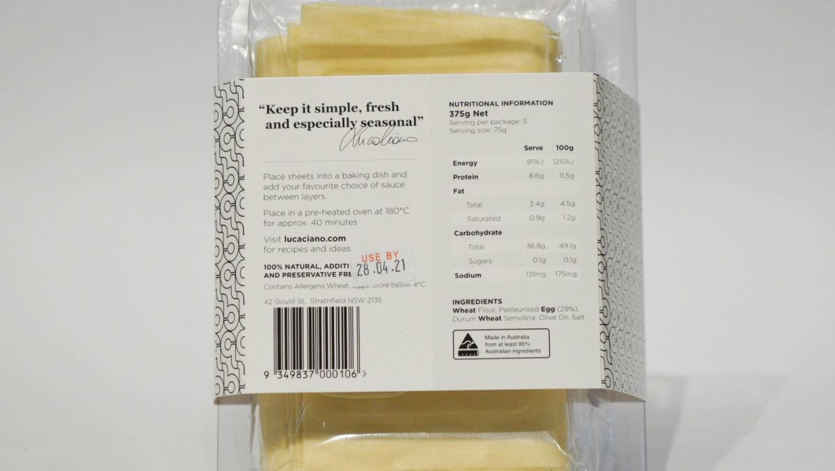 Chef Luca Ciano - Fresh Lasagne Sheets
