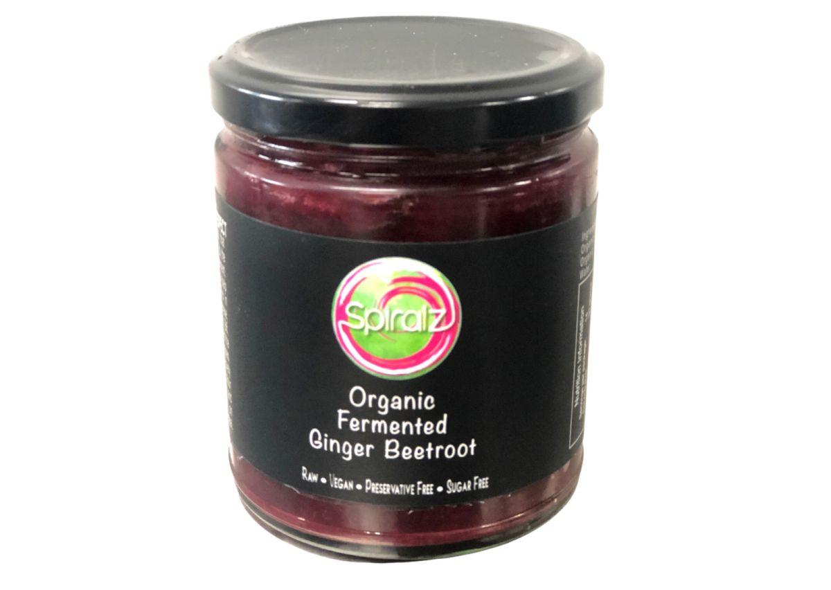 Spiralz - Raw Organic Fermented Ginger Beetroot - 220g