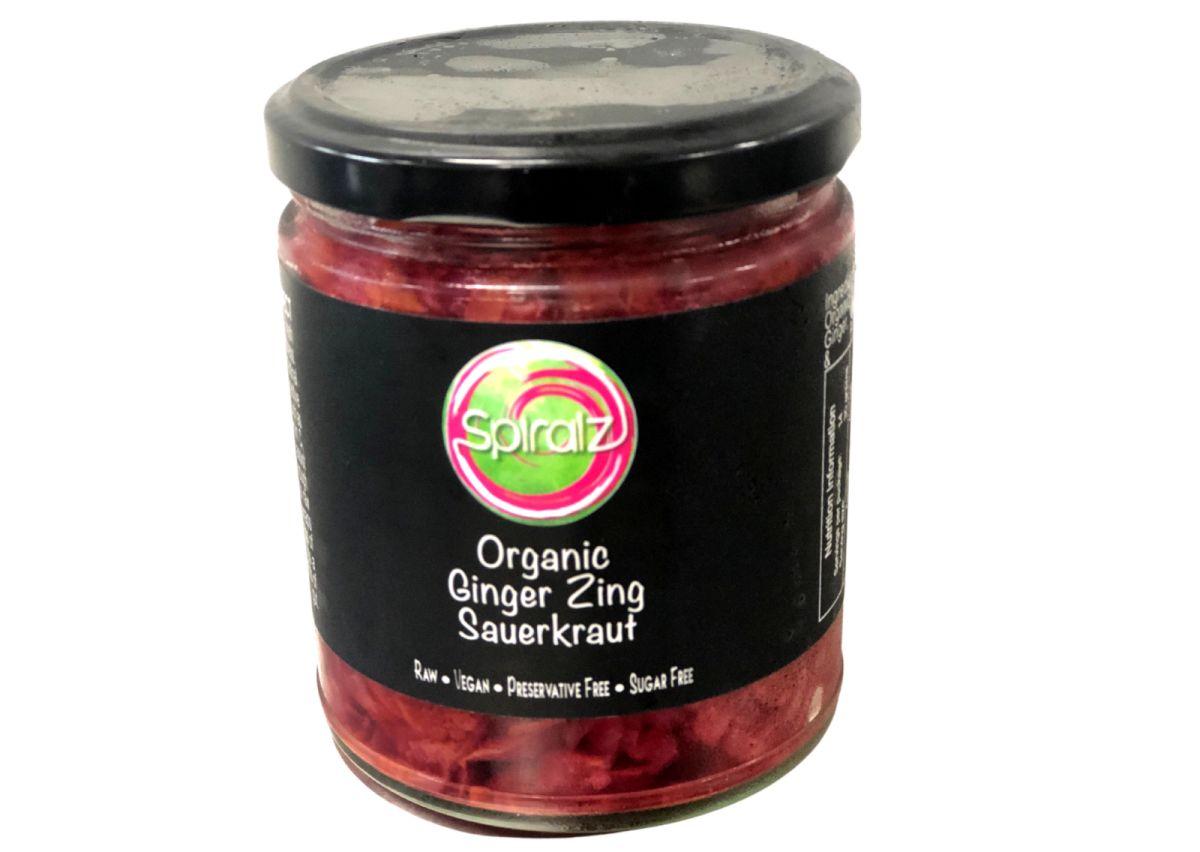 Spiralz - Raw Organic Ginger Zing Sauerkraut - 220g