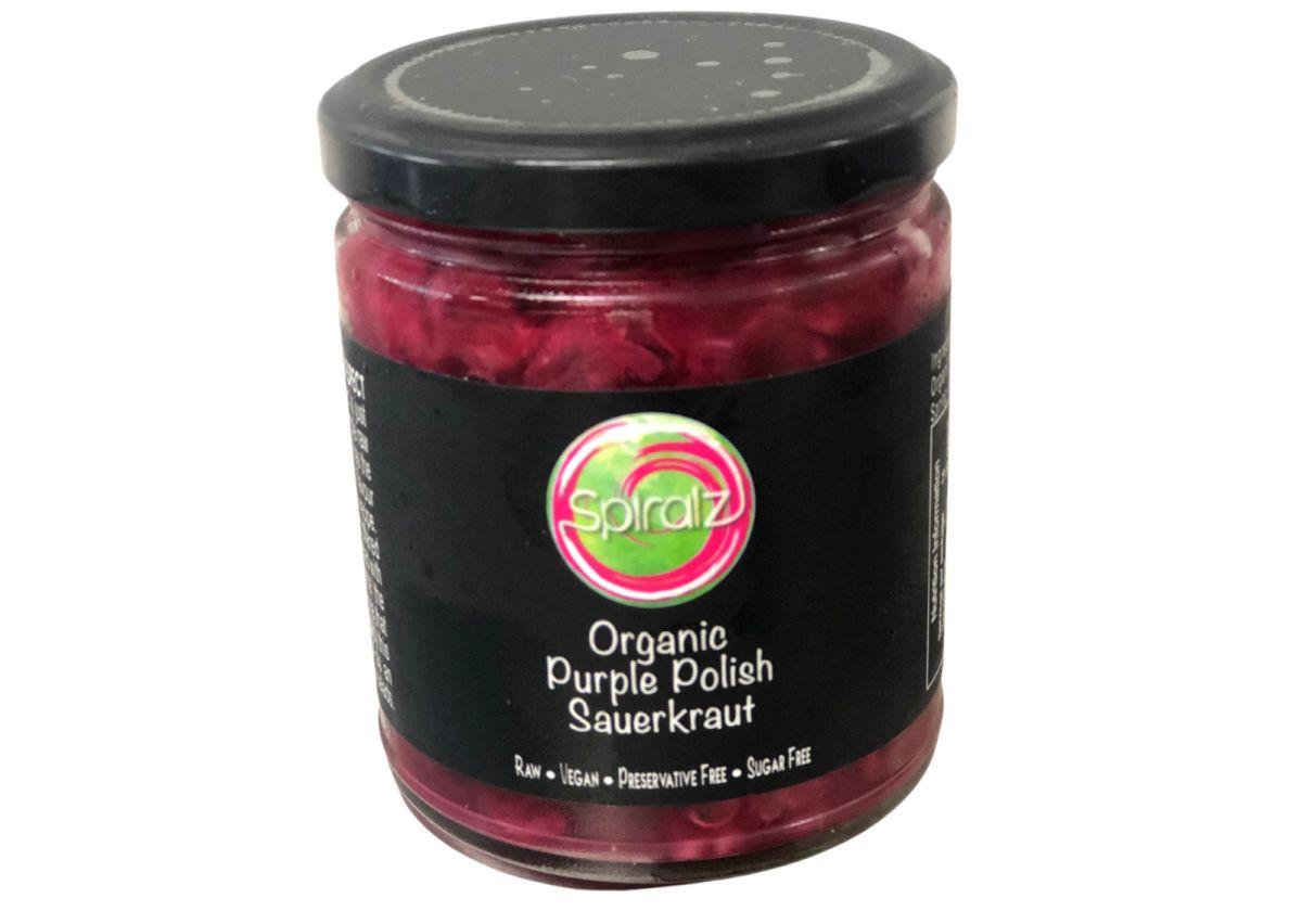 Spiralz - Raw Organic Purple Polish Sauerkraut - 220g