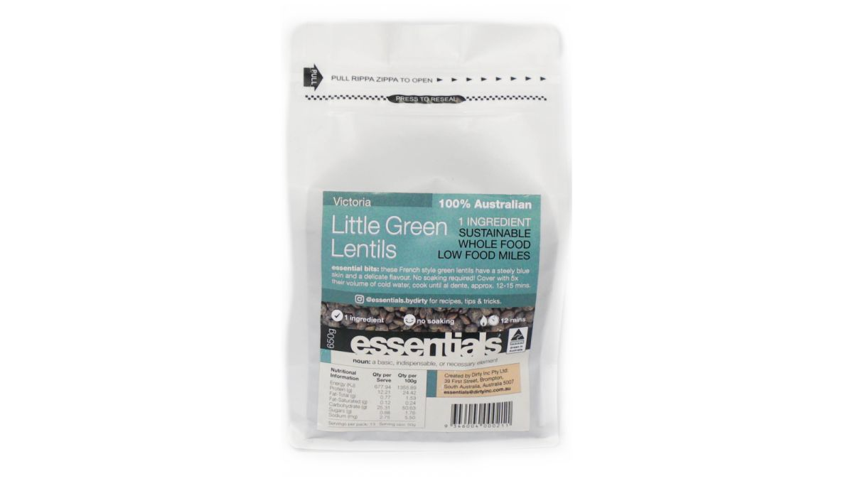 essentials by dirt(y) - Little Green Lentils