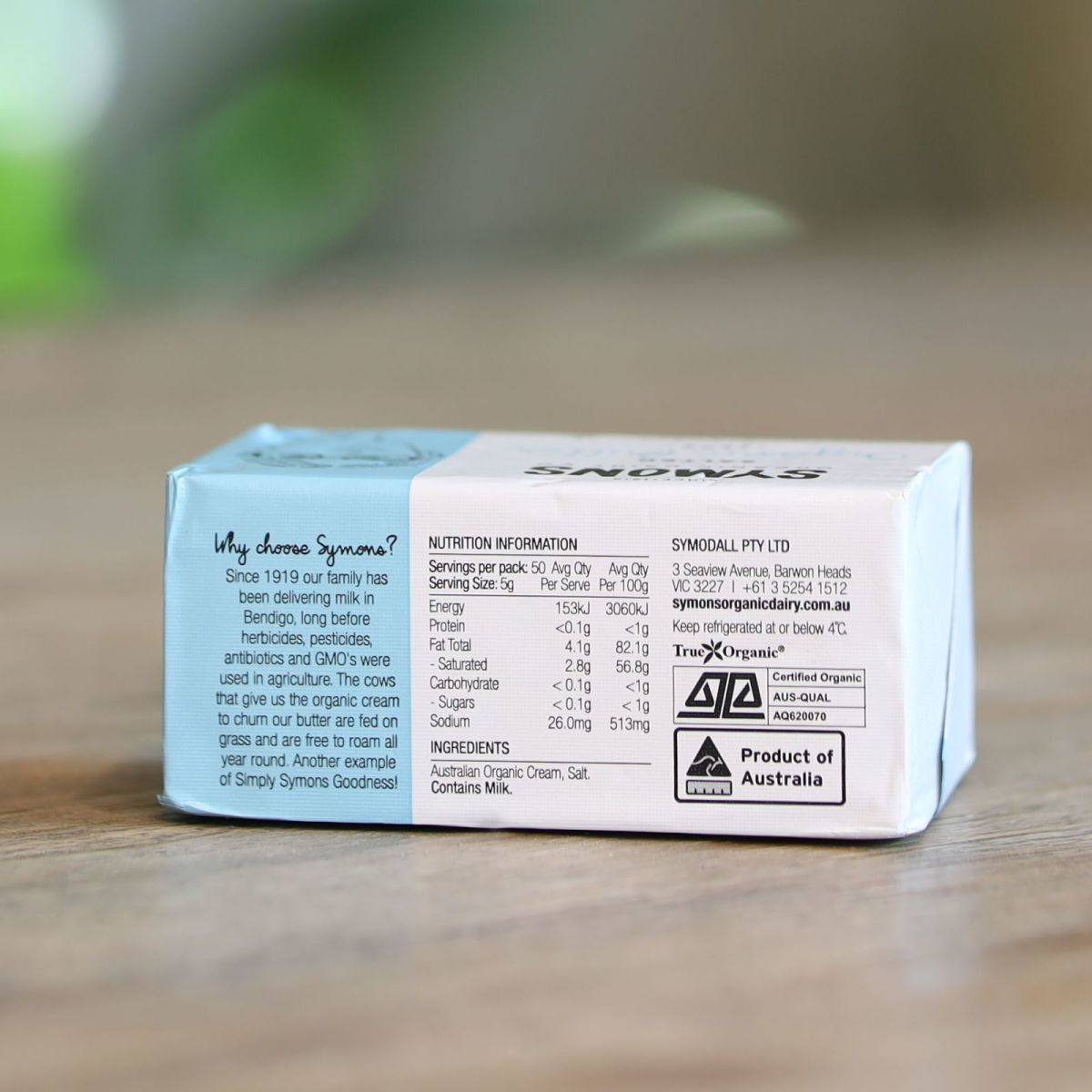 Symon's Organic Dairy Co. - Organic Grass Fed Salted Butter