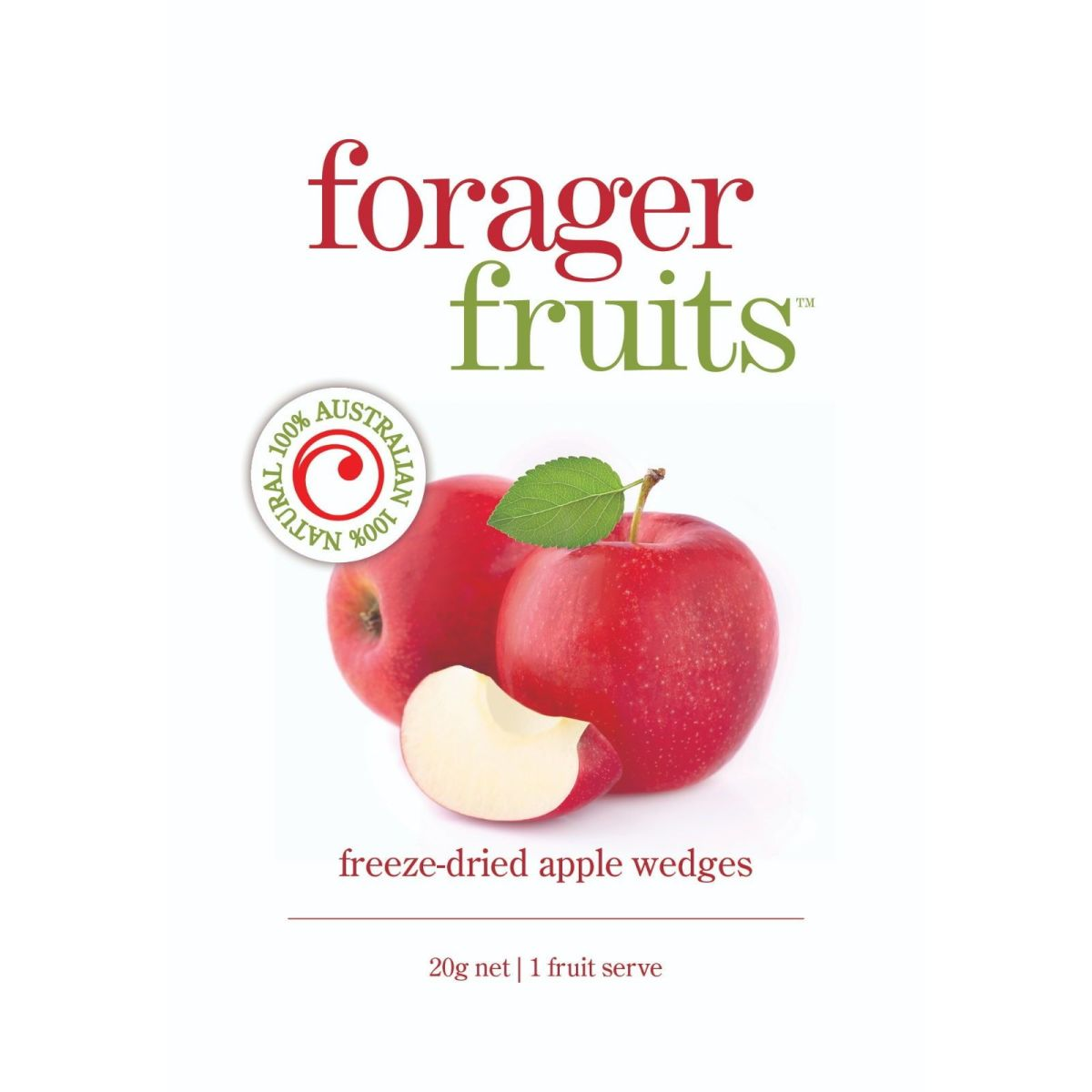 The Forager Food Co. - Freeze Dried Apple Wedges - 20g