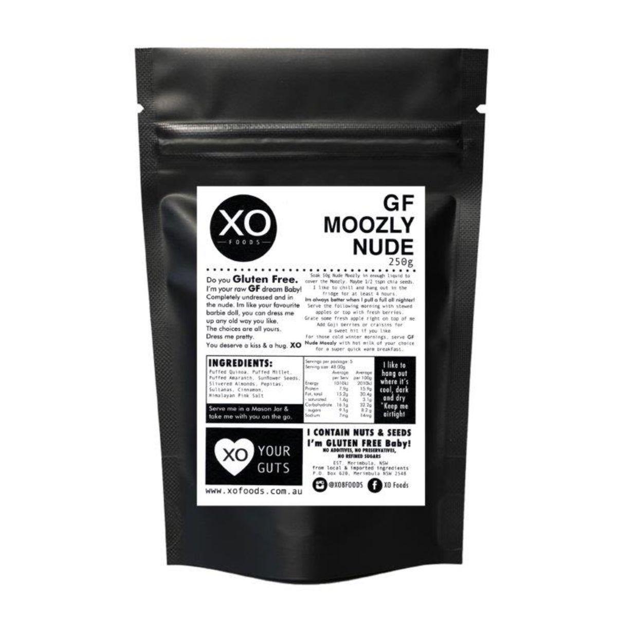 XO Foods - Gluten Free Nude Moozly