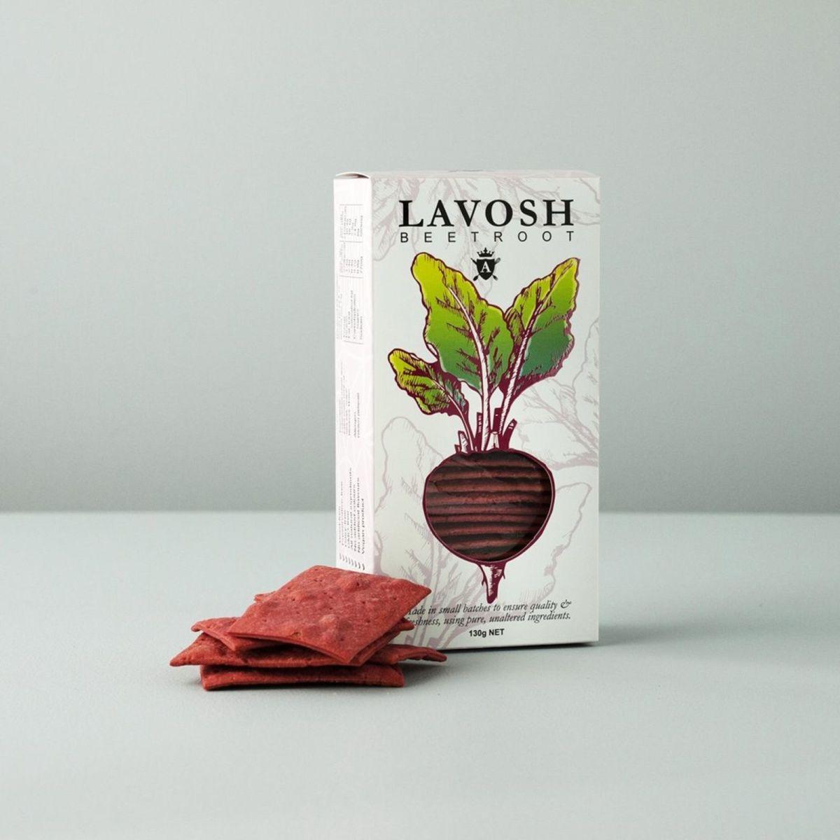 Asterisk Kitchen - Lavosh Crackers - Beetroot