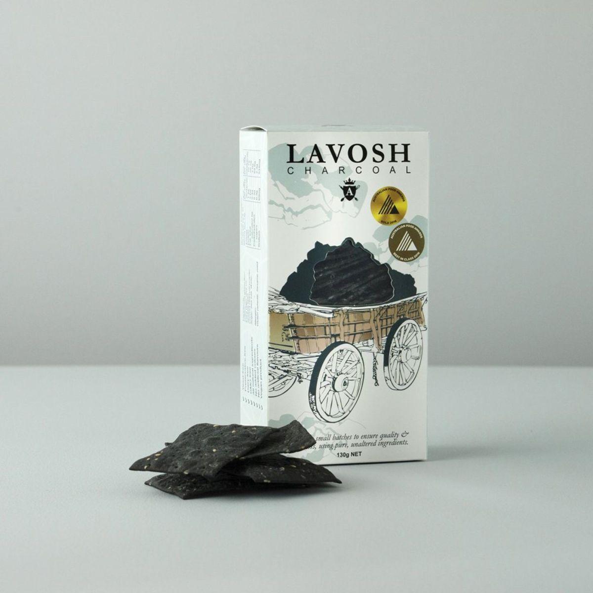 Asterisk Kitchen - Lavosh Crackers - Coconut & Charcoal
