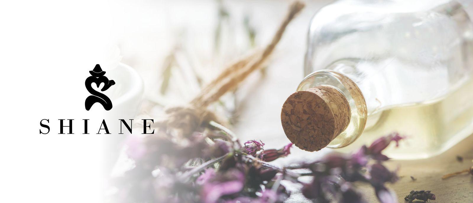 Lavender and bottle of castor oil